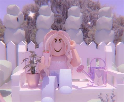 Aesthetic roblox gfx girl in 2020  Cute tumblr wallpaper ... - pink wallpaper cute summer aesthetic roblox girl gfx
