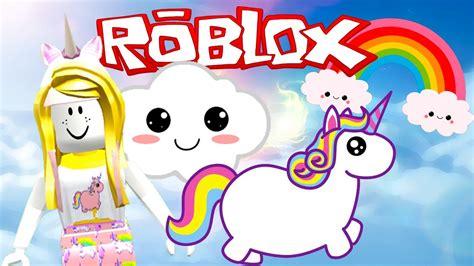 ROBLOX Unicorn Tycoon I Adopt Buttercup Rainbow Lashes The ... - unicorn roblox cute girl wallpaper