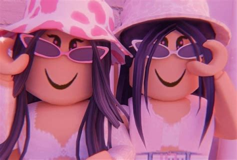 Bff's roblox gfx aesthetic in 2020  Roblox pictures ... - wallpaper cute summer aesthetic roblox girl gfx with face