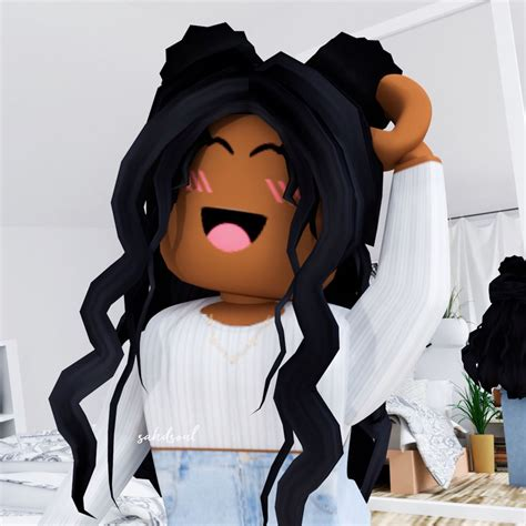 Pin by 𝙼𝚘𝚕𝚕𝚢 𝙼𝚌𝙺𝚒𝚗𝚗𝚎𝚢♡ on Roblox Gfx in 2020  Roblox ... - cute roblox pictures for tiktok black girl