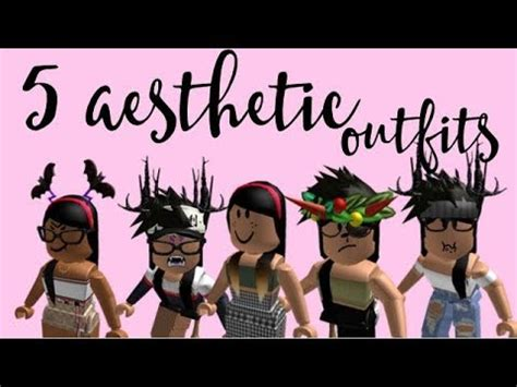 5 Aesthetic roblox girl outfits! pt.2 - YouTube - aesthetic outfits cute roblox girl avatar ideas