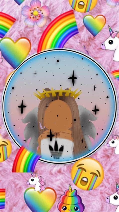 #freetoedit its a roblox girl#roblox in 2020  Cute tumblr ... - unicorn roblox cute girl wallpaper