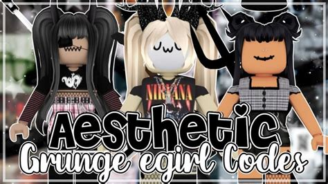 Aesthetic Roblox Grunge/E-girl Outfits  Codes + Links ... - aesthetic outfits cute roblox girl avatar ideas