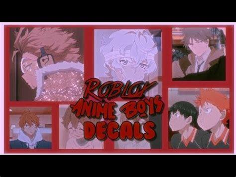ROBLOX  Bloxburg/Royale High Aesthetic Anime Boy Decals ... - royale high cute anime girl roblox id