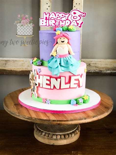 Pin on Harpers birthday parties - roblox cute girl roblox cake for girls