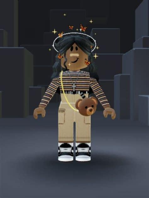 Pin on Bloxburg - cute roblox avatars girl with black hair