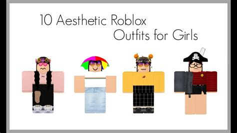 Aesthetic roblox outfits!! - YouTube - aesthetic outfits cute roblox girl avatar ideas