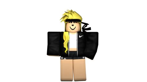 Black Girl - Roblox GFX by iiFrostMichael on DeviantArt - roblox pictures girl cute black