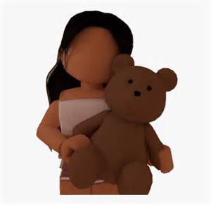 #roblox #girl #gfx #png #bloxburg #teddyholding #cute ... - cute roblox pictures beautiful aesthetic roblox girl gfx